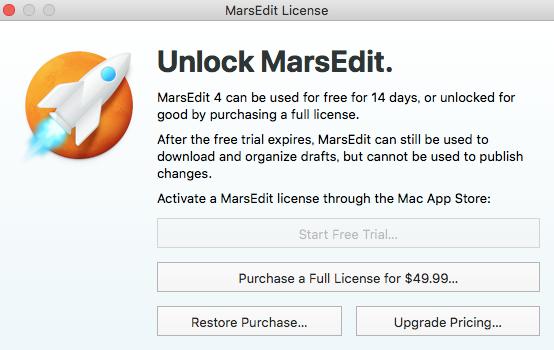 MarsEdit License