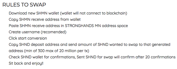 INSTRUCTIONS FOR 24H PRE SWAP EVENT StrongHands™ The Official Site of the StrongHands Coin™