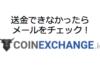 コインエクスチェンジ(CoinExchange.io)から出金・送金できない時はメールをチェック!