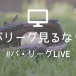 【パ・リーグLIVE】パリーグ全試合が見られる格安ネット放送!